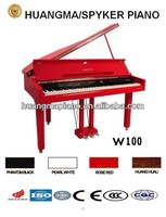 HUANGMA HD-W100 red digital grand piano for keyboard synthesizer