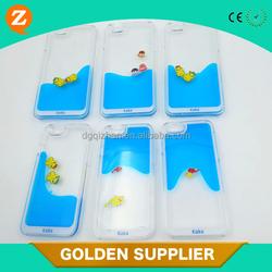 Colorful Liquid Duck Plastic Case For iPhone 6/6 Plus, For iPhone 6 Hard PC Float Case