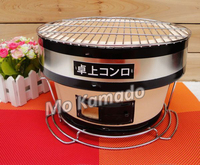 round bbq grill ceramic kamado smoker oven vertical charcoal grill