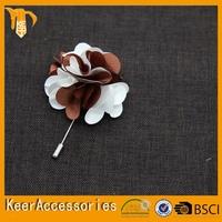 Felt rose flower wedding brooch