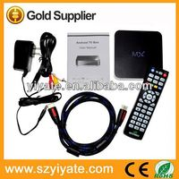 android 2.2 google internet tv box  AML8726-MX dual core A9 1.5 Ghz,android 4.2 MX tv box