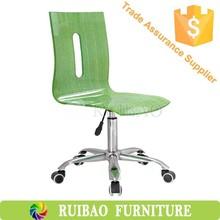 2015 Modern Color Acrylic Chair,Clear Plastic Chair,Clear Acrylic Desk Chair with Wheels