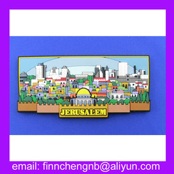 Customized souvenir 3D City Name Soft PVC Fridge Magnet Rubber Fridge Magnet