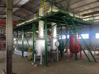 2015 used tire plastic oil refining diesel distillation machine with catalytic tower