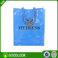 non woven printed print eco-friendly recycled pp woven bag with zipper GL107