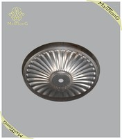 2015 Hot sale iron lamp base factory price Sunflower lines pattern wholesale hardware fitting
