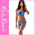 azul de moda las mujeres bikini de neopreno