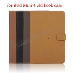 Old Style Tablet Case Cover for iPad Mini 4 Leather Shell