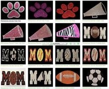 Removable alphabet stickers Christmas Hallowen Craft Crystal Gems