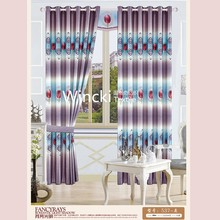 colorful flower print blackout curtain fabric ready made curtain