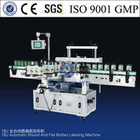 made in china Semi and full auto round and flat bottles labeling machine