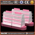 Nuevo producto cosmético venta kiosco, acryli cosmético grande expositores
