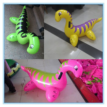 Inflatable dinosaur pool toy, pvc dinosaur rider water toys for sale