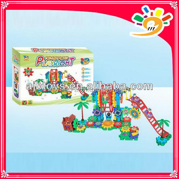 Gear Blocks Toys Happy Block Park Funny Gear Brick Large ...