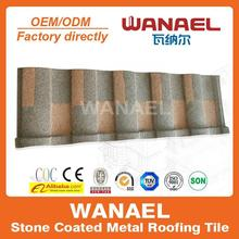 Roman Wanael stone coated galvalume roof tile/roof design/terracotta roof tiles price