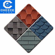 building materials Red Color Round Shape Fiberglass Roofing Asphalt Shingle