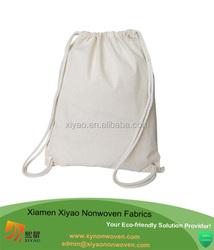 Medium Size Eco-Friendly 6 oz. Cotton Canvas Drawstring Bag