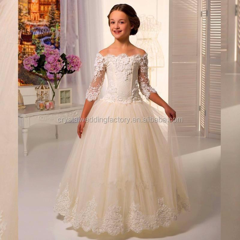 Latest Children Princess Wedding Bridesmide Dresses Frocks Birthday ...