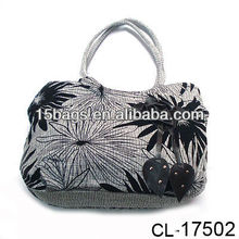 Fashion wholesale printing canvas hobo handbag