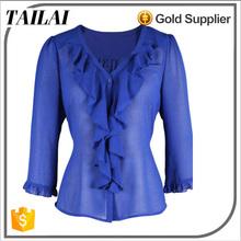 Proveedor de ropa formales para mujer de moda blusa modelo