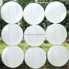 Pure white 12 inch Chinese paper lanterns,wedding lanterns wholesale