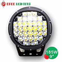 9 Inch round 185w led off road light, high power 185w led off road light spot IP68