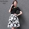 2015 summer new apparel A-line skirt full printing dresses apparel