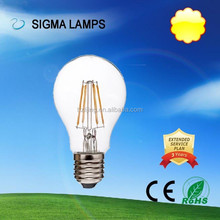 SIGMA clear E14 E17 E27 global led filament bulb 2W 4W 6W 220v ac with CE SASO