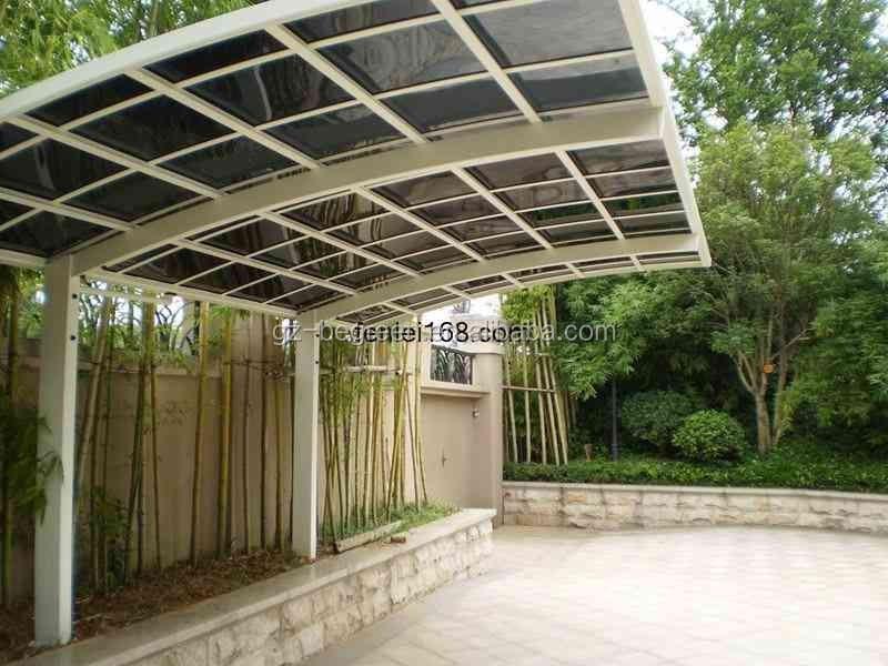 Curved Roof Aluminum Carport Polycarbonate Cantilever