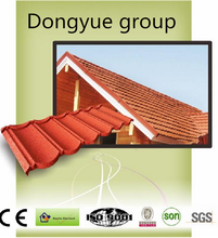Heat insulation fiber cement roof tile stone coated steel roof tile
