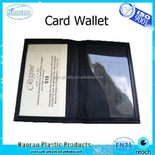 Vinyl pocket protector wallet credit card holder plastic
