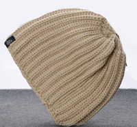 The new knitted wool hat Adult hat ear cover ski cap