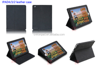 popular leather case for ipad 2 3 4 cover stand