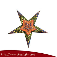 60cm colorful paper star for family decoration