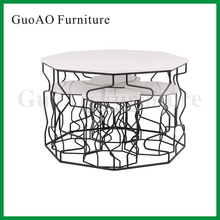 2015 New Fashionable Modern Outdoor Metal Wire Garden Tables