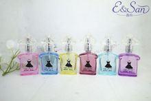 PT132 10ML Wholesale Colored Mini Black Skirt Glass Refill Empty Perfume Atomizer Spray Bottle