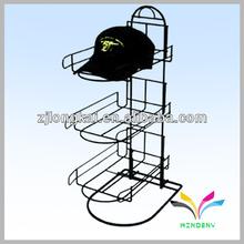 Hot selling fashion department store free standing metal hat display rack