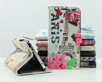 Eiffel Tower Design Wallet Leather Case For Samsung Galaxy S5 i9600