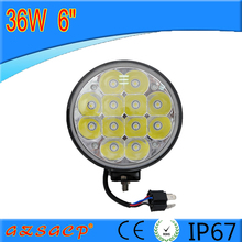 Factory supply 36w led work light 6inch rechargeable work light for car SUV ATV