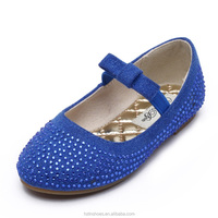 2015 New modern girls shoes, fashion girl's dolly shoes, flat ballet shoes with rhinestone