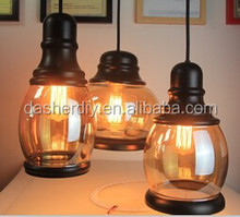 Fashion simple European light amber glass lampshade with E27 plastic lampholder CE/VDE