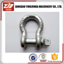 best marine use hardware round pin chain shackle small bow shackle wholesale