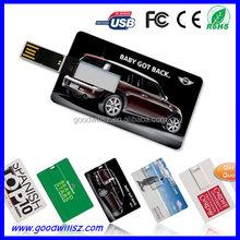 Portable Gift Card USB Memory 2.0 with Custom Logo Printing