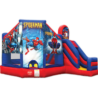 CE/UL EN14960 SGS SAA batman theme inflatable slide jumper combo bouncer for sale See larger image batman theme inflatable slid