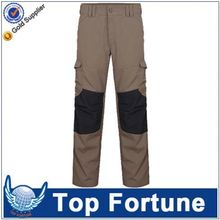 Hot sale economic unisex durable knee pad navy blue/khaki cotton work pants