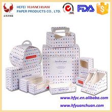 Disposable paper containers for food packaging boxes