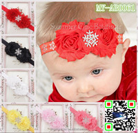 baby headwear maple leaf baby hair accessories with snowflake crystal stones MY-AB0061
