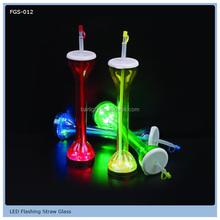 Led flashing yard glass,light up yard glass,Led yard glass