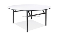 4ft or 6ft High Quality White Plastic Folding Round Tables