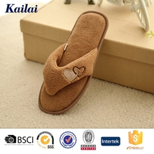 cheap china brown supple flip flop man slipper for reseller